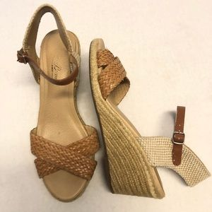 Lucky brand wedges 6.5 slingback ankle strap